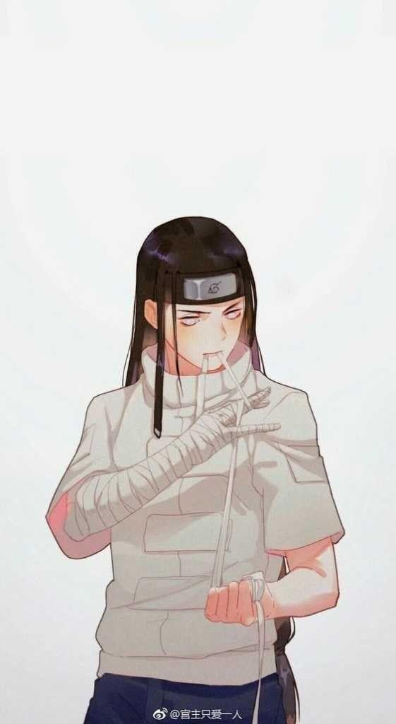Самые классные аниме арты про Неджи (19)