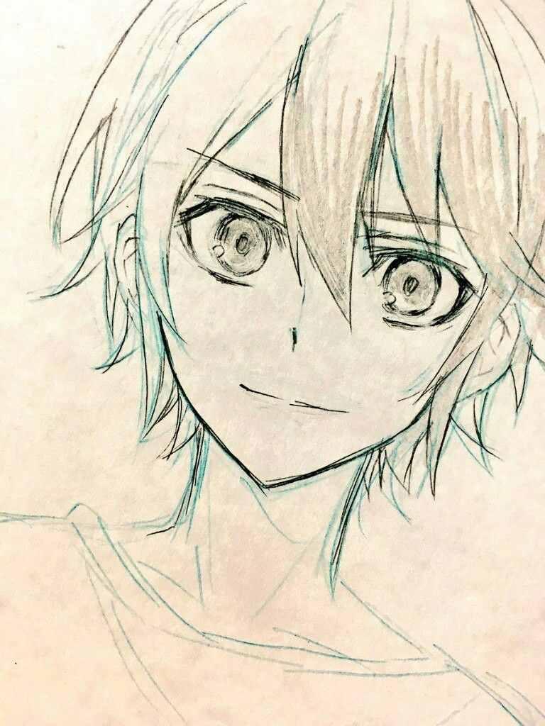 Самые красивые аниме карандашом легкие для срисовки 07