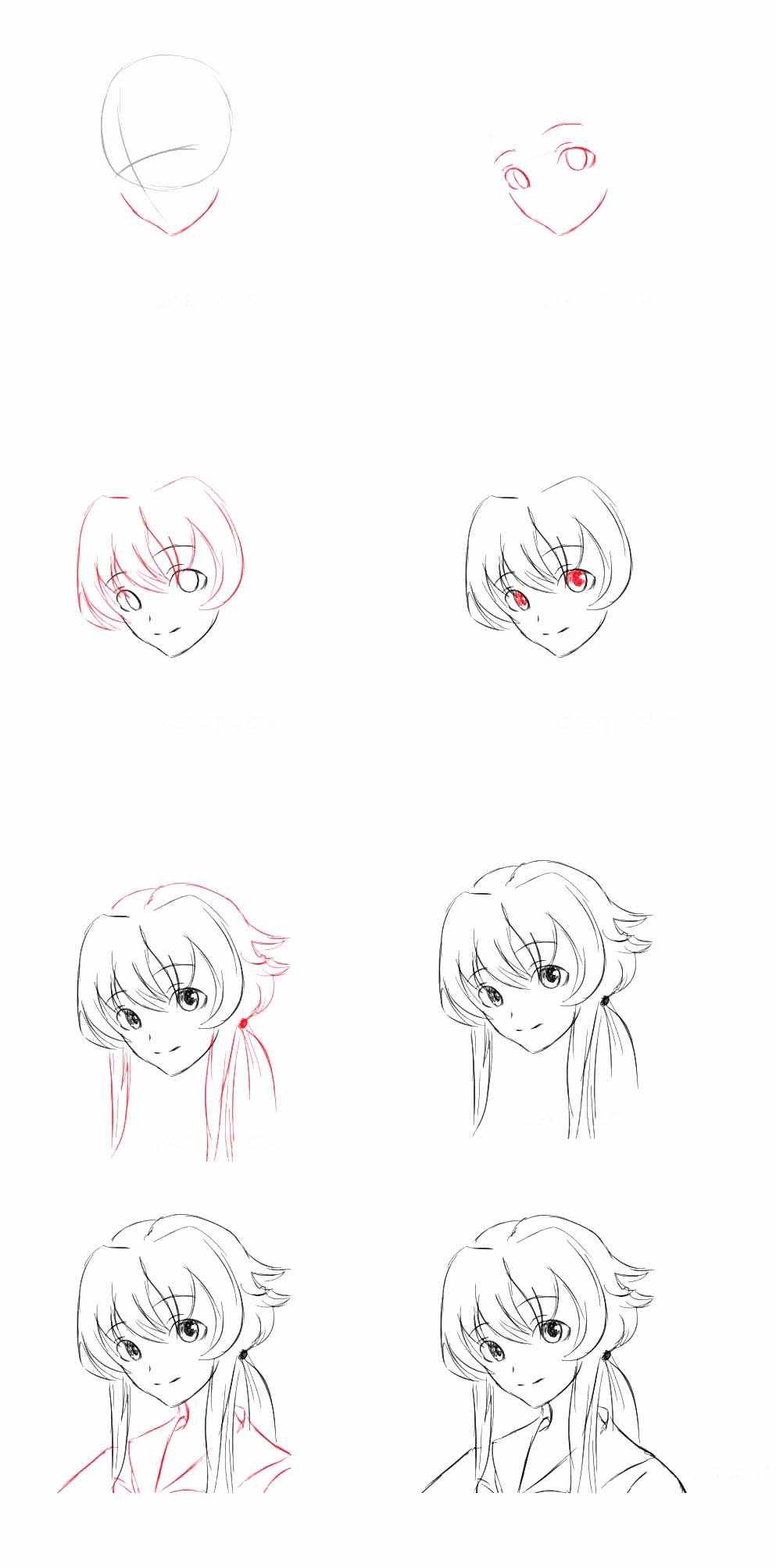 Самые красивые аниме карандашом легкие для срисовки 10