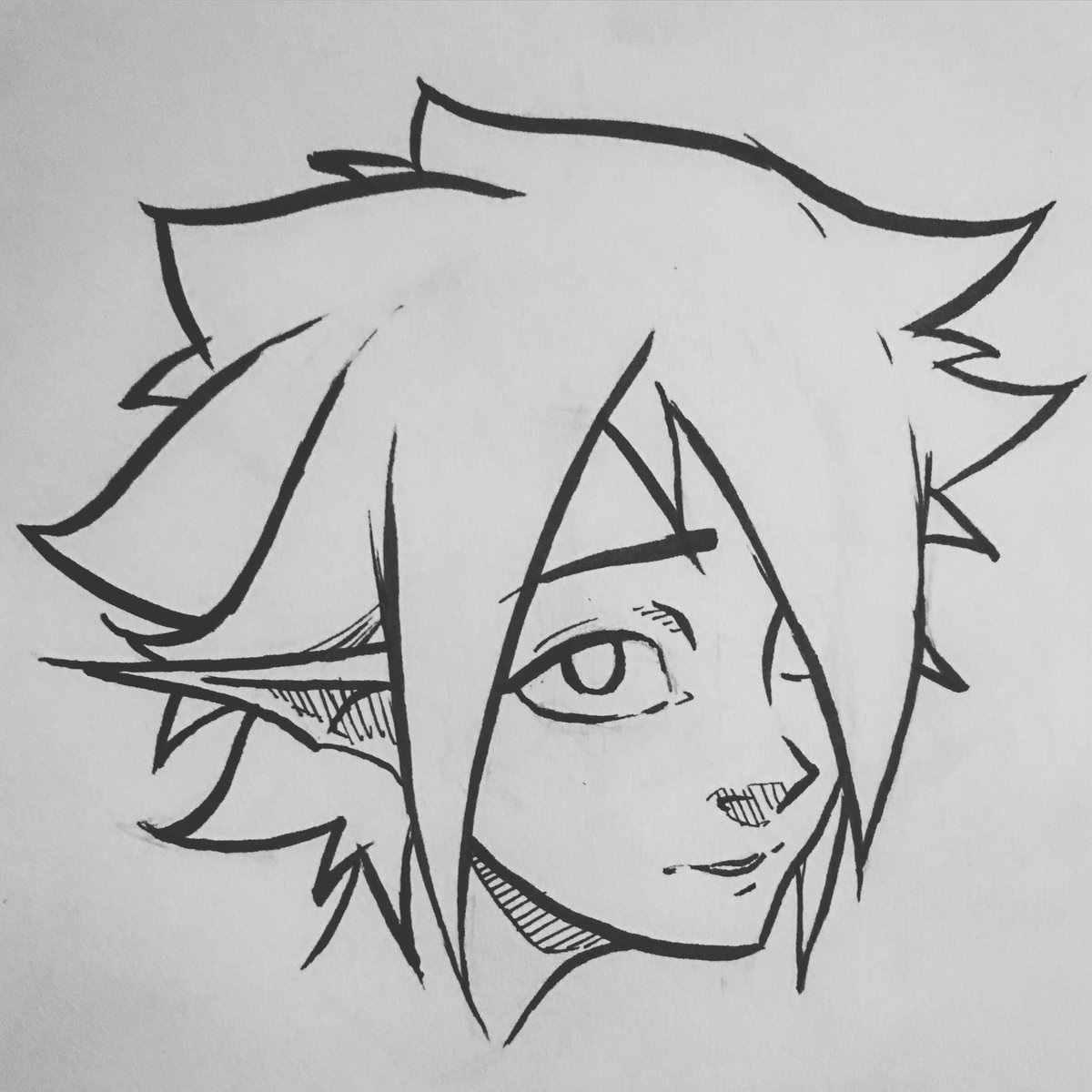 Самые красивые аниме карандашом легкие для срисовки 15