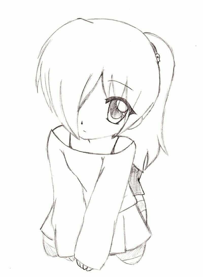 Самые красивые аниме карандашом легкие для срисовки 18