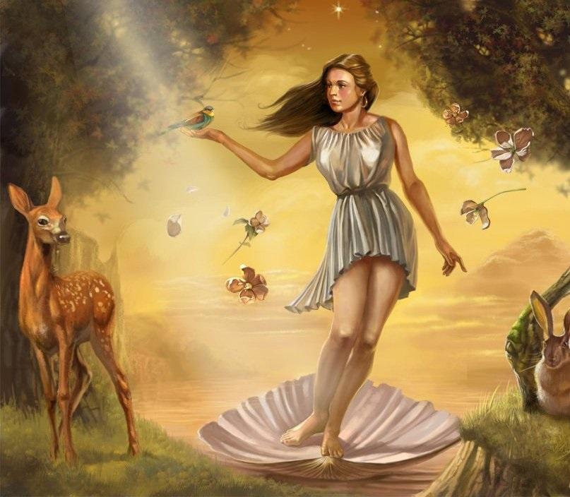 Самые красивые богини, их арт картинки (11)