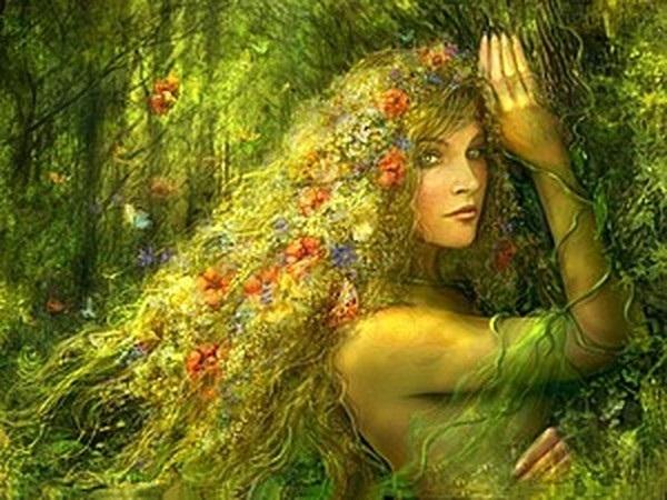 Самые красивые богини, их арт картинки (14)