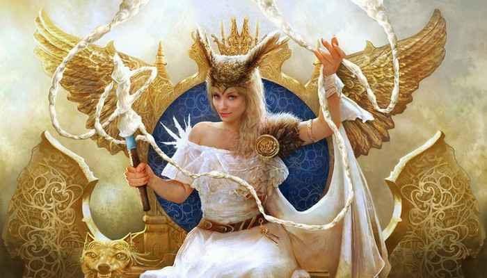 Самые красивые богини, их арт картинки (8)