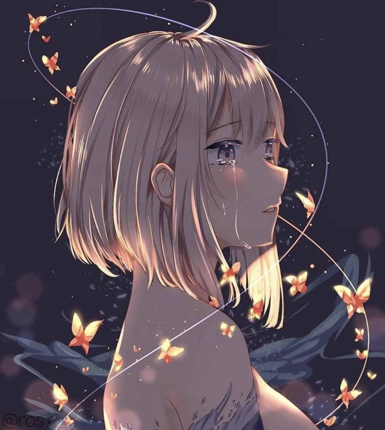 Скачать грустные аниме аватарки, в лучшем качестве 08