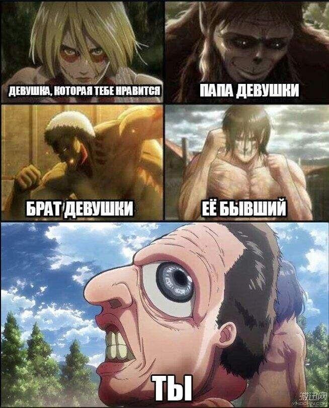 Смешные и мемные картинки из Атаки Титанов (15)