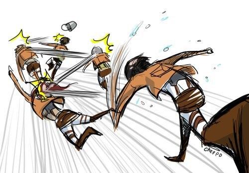 Смешные и мемные картинки из Атаки Титанов (7)