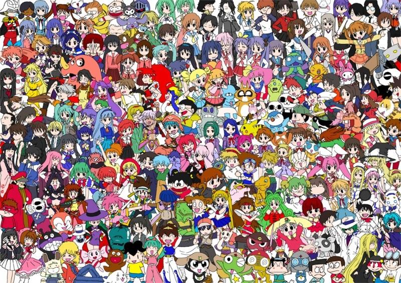 Все аниме на одной картинке   подборка обоев (4)