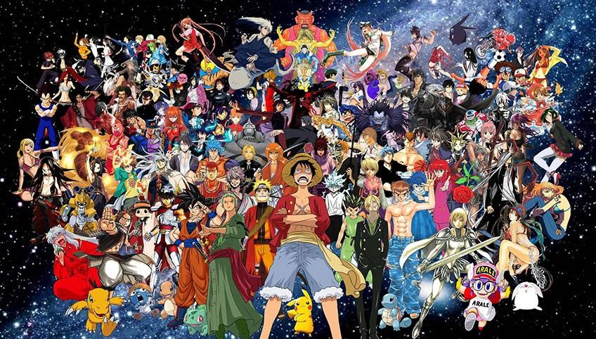 Все аниме на одной картинке   подборка обоев (9)