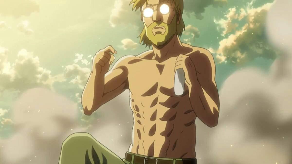 Зик Йегер с голым торсом