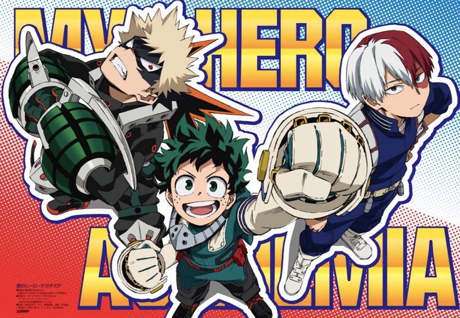 Моя геройская академия дебютирует с ключевыми рисунками 5-го сезона