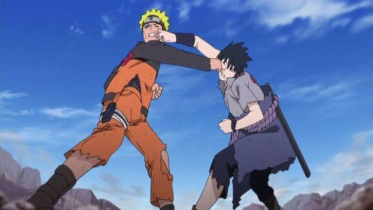 Бой между Саске и Наруто