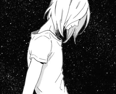 Черно белые грустные аниме арты (1)