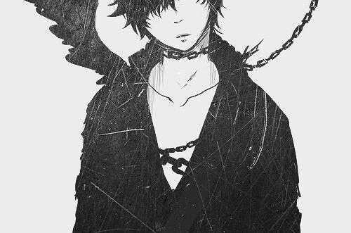 Черно белые грустные аниме арты (4)