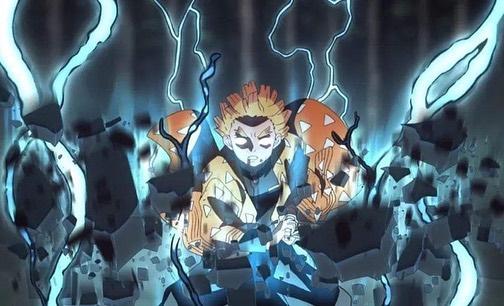 Момент из аниме клинок рассекающий демонов