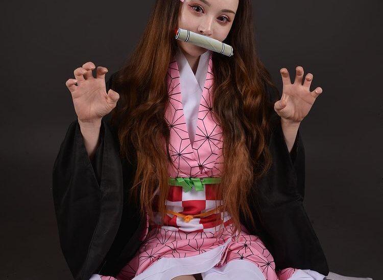 Косплей Незуко из Клинок рассекающий демонов фото 1