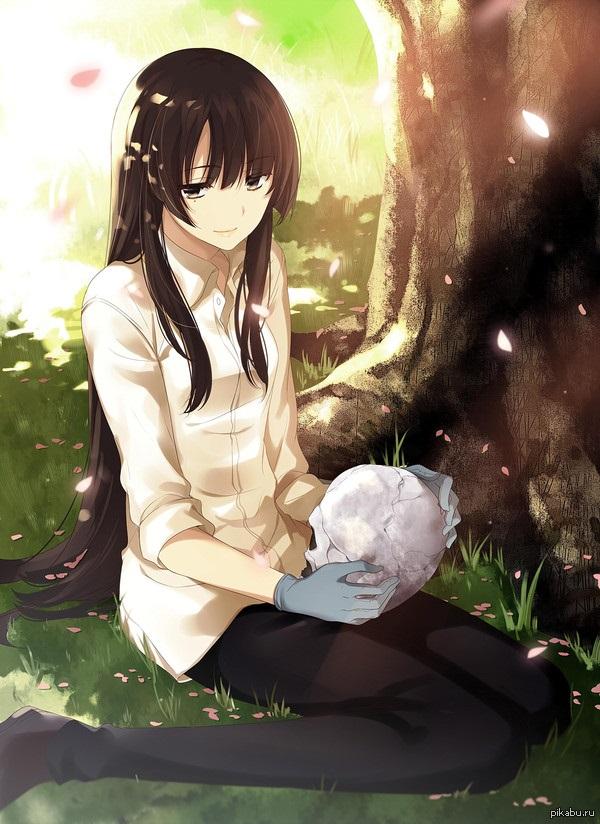 Kujou Sakurako красивые арты персонажа (8)