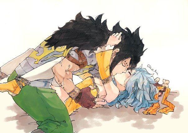 Леви и Гажил поцелуй (20)