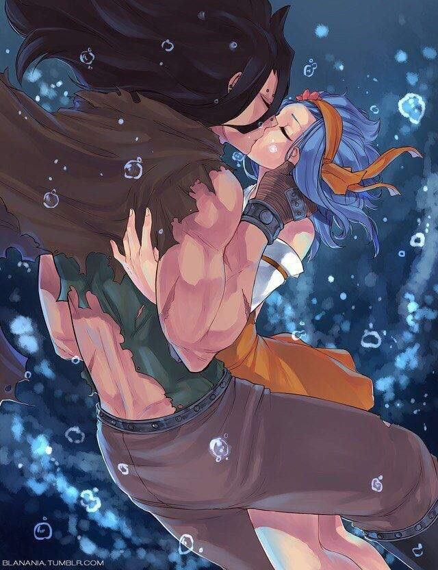 Леви и Гажил поцелуй (8)