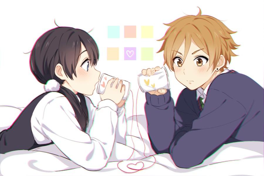 Мотидзо и Тамако   очень красивые картинки этой парочки (10)