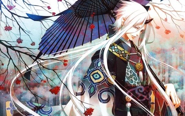 Топ арты аниме девушка демон с белыми волосами (14)