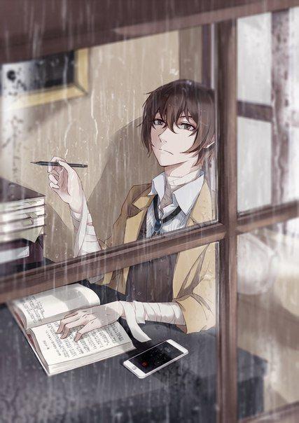 Арты персонажа Дадзай Осаму (25)