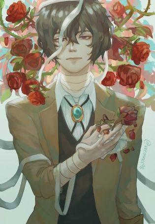 Арты персонажа Дадзай Осаму (7)
