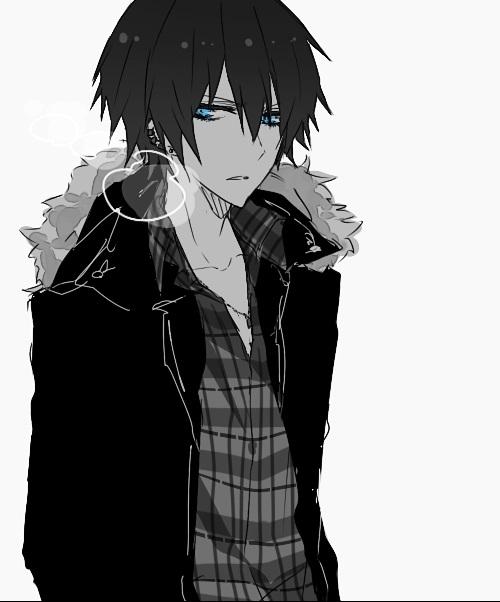 Темноволосый парень аниме картинки   сборка (12)