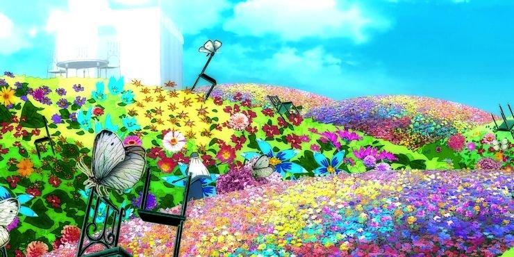 Огромное поле цветов