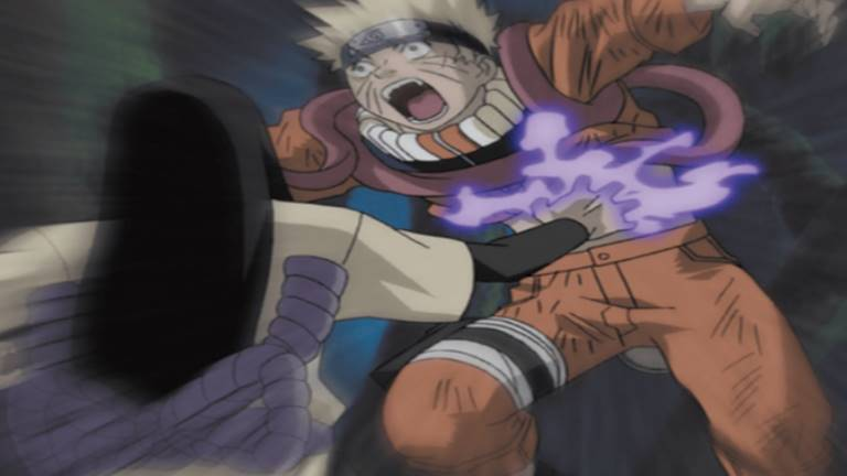 Орочимару делает больно Наруто