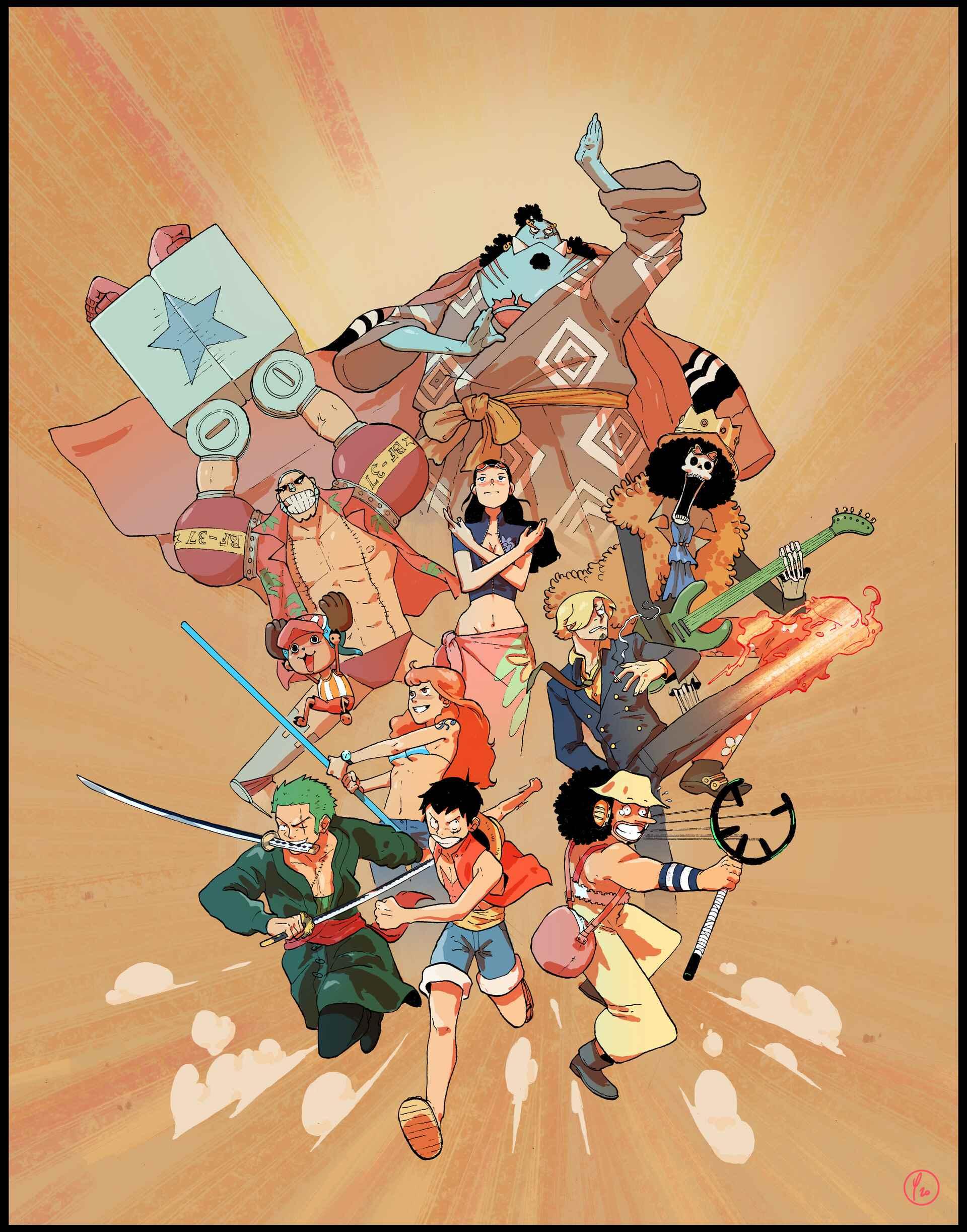 Красивая заставка Ван пис (One Piece) на телефон (16)